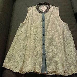 Free People Tops - Free People Lace Swing Top